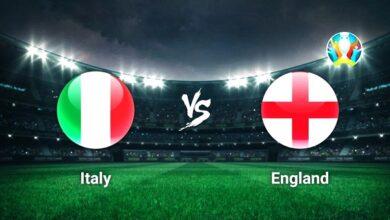 موعد مباراة إيطاليا وإنجلترا فى نهائى يورو 2020 والقنوات الناقلة