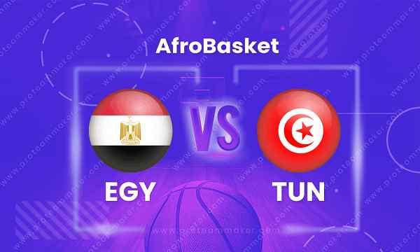مشاهدة مباراة مصر وتونسبث مباشر اليوم فى أمم إفريقيا لكرة السلة